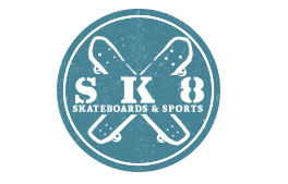 Logo for Sk8 Boards & Sports