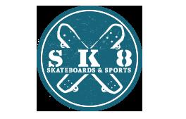 Logo for Sk8 Boards & Sports